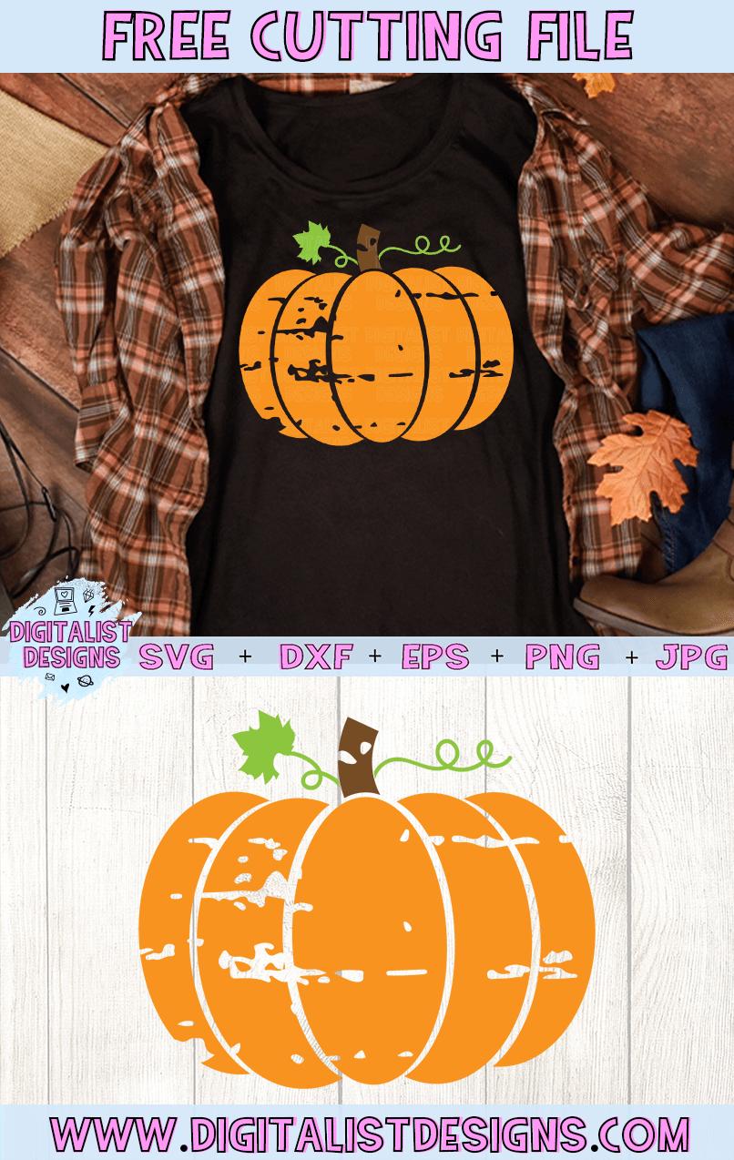 Grunge Pumpkin SVG | Free Design for Cricut and Silhouette