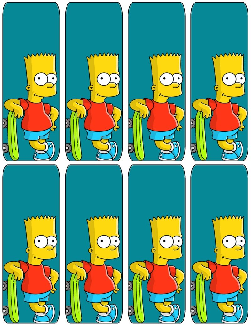 The Simpsons Bart Bookmarks Free To Use And Free To Share For Personal Use