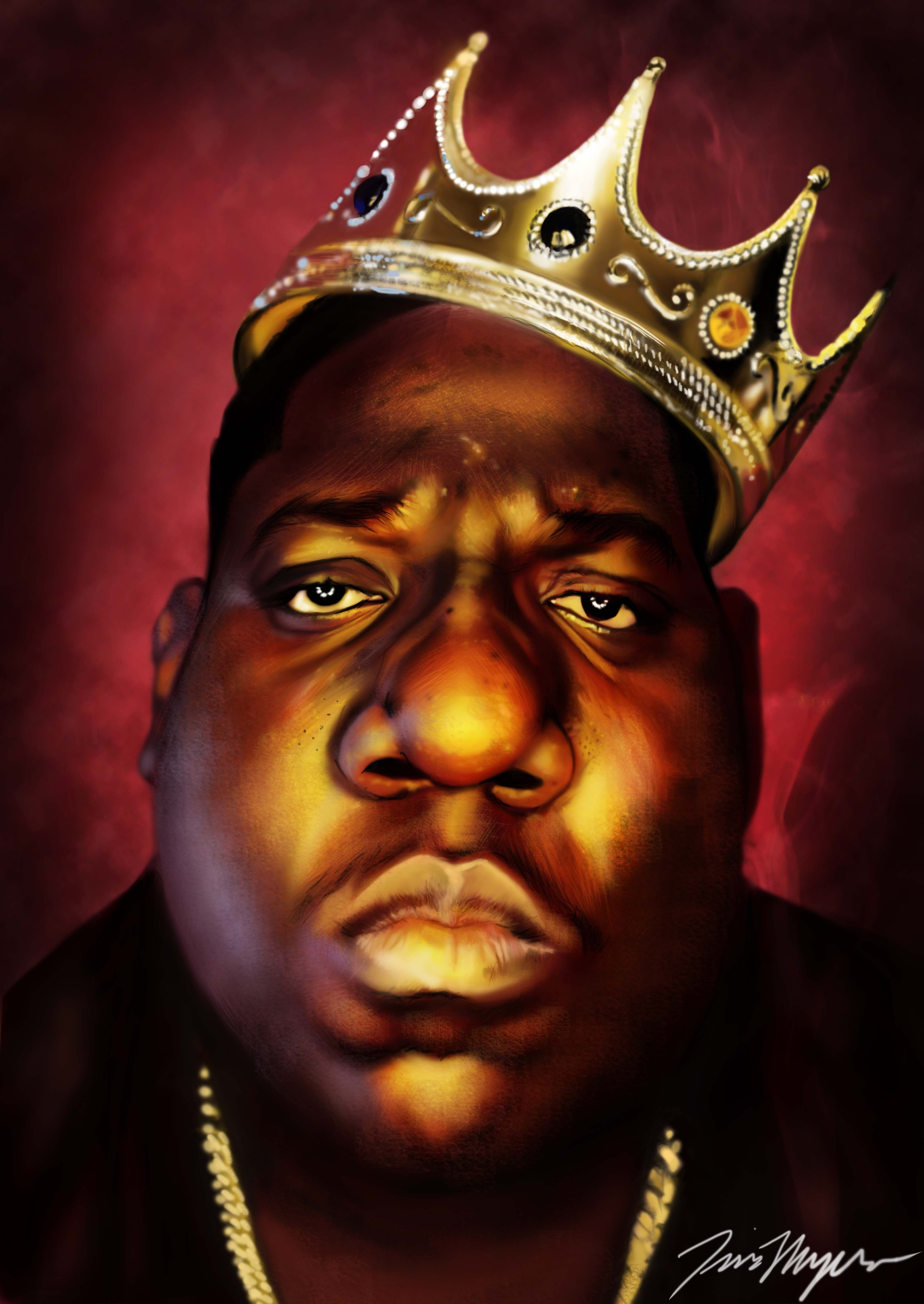 Notorious BIG caricature by Tim Myers | Hip hop artists ...
