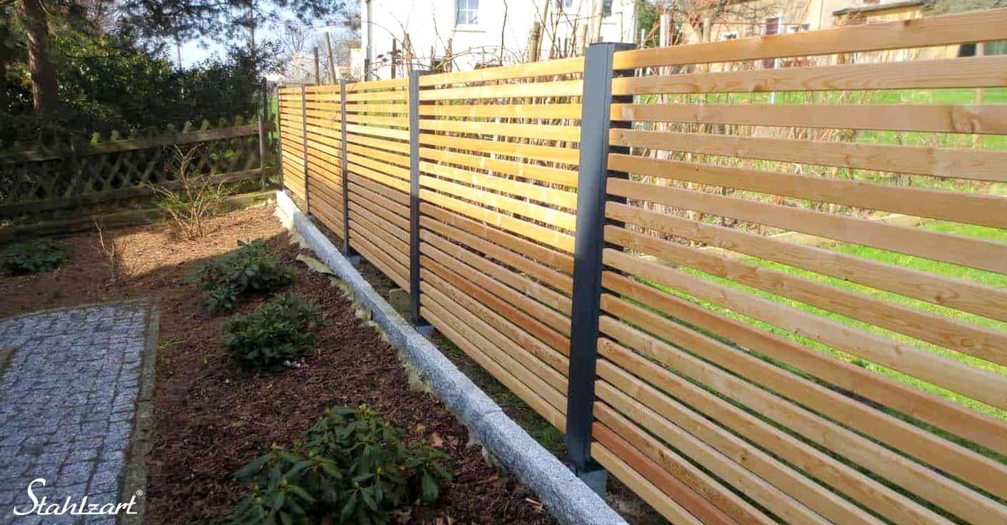 Sichtschutzzaun Holz Larche Metall Modern Geheimnis 2 Stahlzart Sichtschutzzaun Holz Sichtschutz Garten Holz Zaun Garten