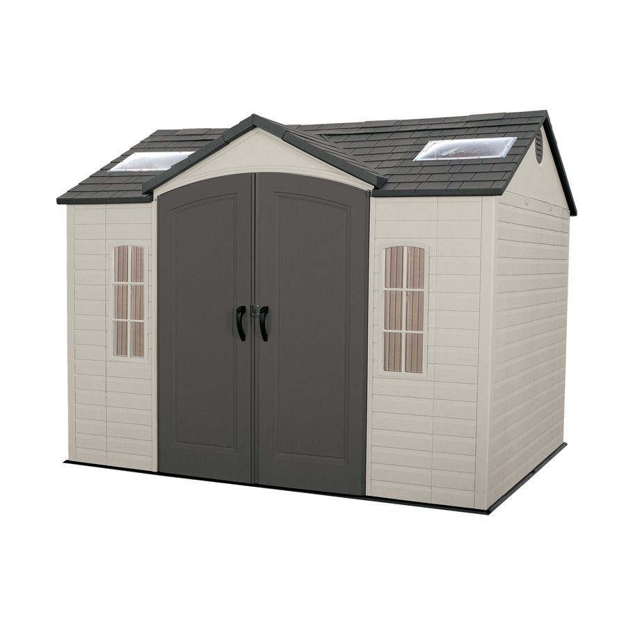 Lifetime Products Gable Storage Shed Common 10 Ft X 8 Ft Actual Interior Dimensions 9 5 Ft X 7 5 Ft Outdoor Storage Sheds Plastic Sheds Shed Storage
