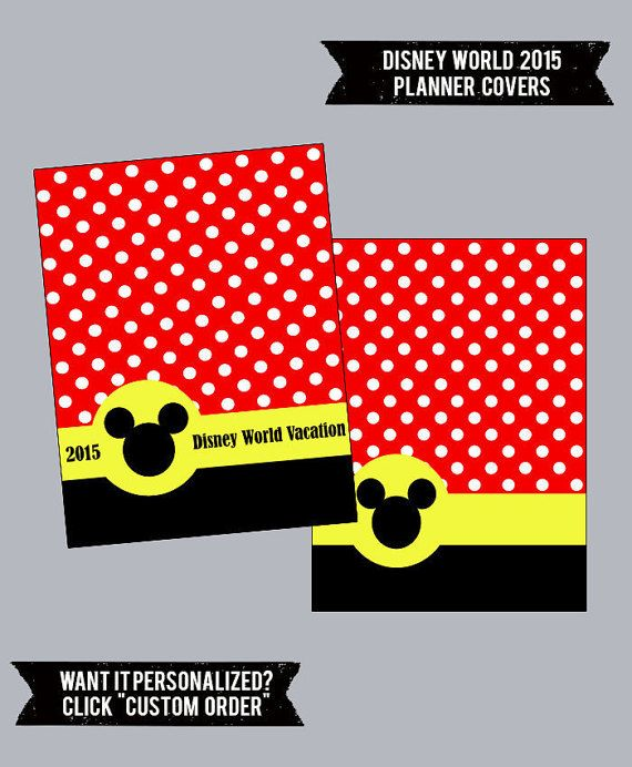 2015 Disney World Planner Or Binder Covers! Cute And