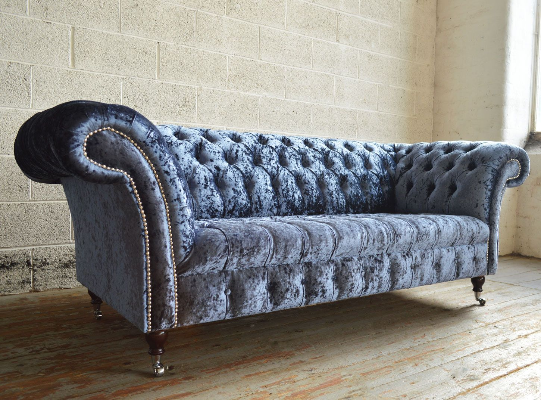 Blue Velvet Chesterfield Sofa Metal And Stone Table Harlow Furniture Pinterest