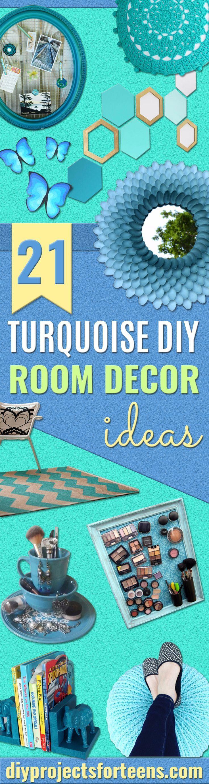 brilliant turquoise diy room decor ideas pinterest bathroom