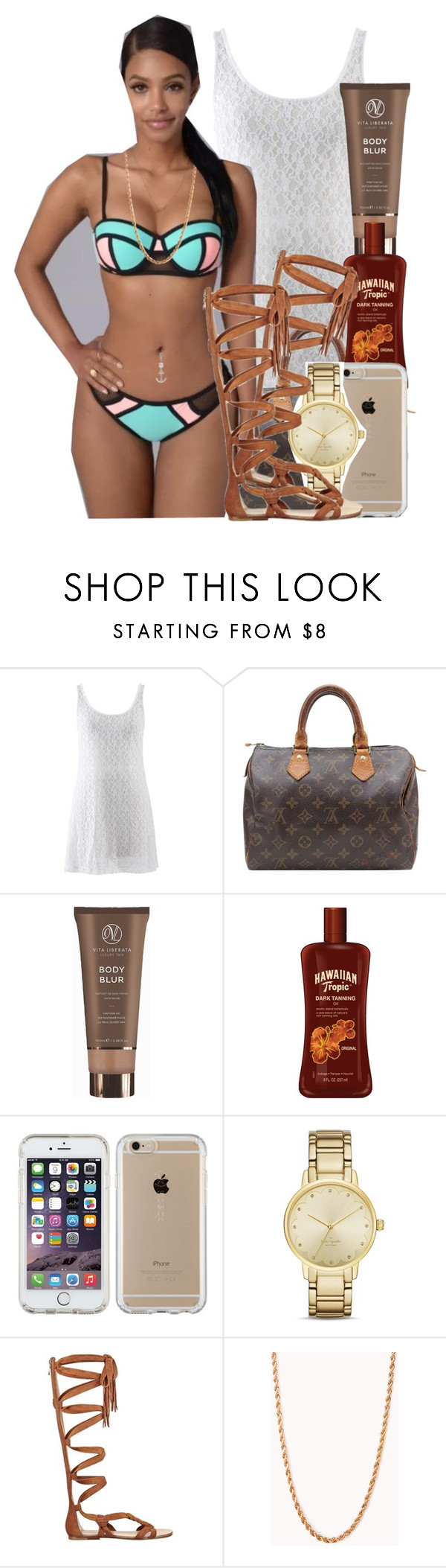 """""""Pool Day"""" by polyvoreitems5 ❤ liked on Polyvore featuring Louis Vuitton, Vita Liberata, Speck, Kate Spade, Sigerson Morrison and Forever 21"""
