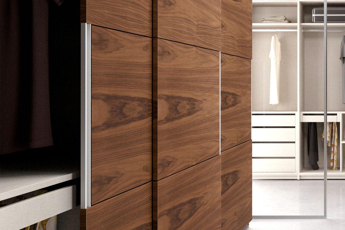 Armario moderno nexus 204 mueble acabado en chapa natural - Nogal americano muebles ...