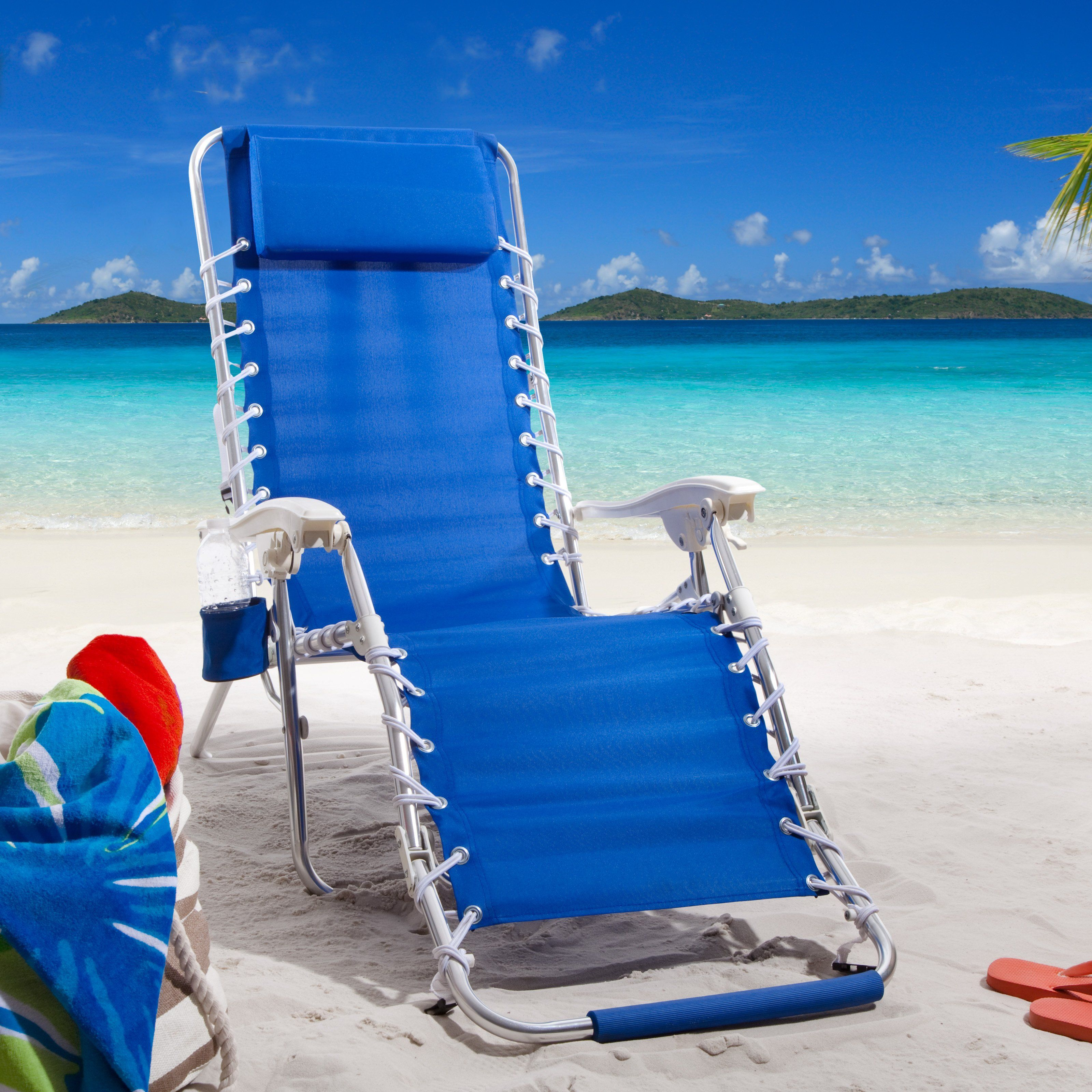 Have To Have It Rio Zero Gravity Backpack Lounger Beach Chair 99 99 Beach Chairs Beach Lounge Chair Modern Patio Furniture