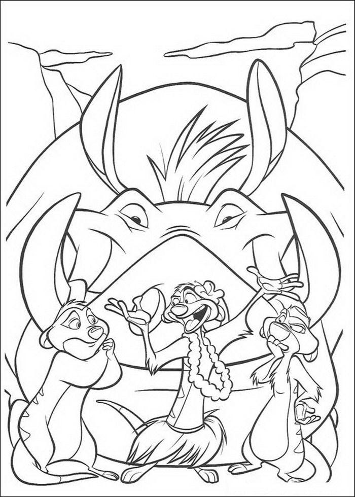 Kleurplaat Lion King Of De Leeuwenkoning Timon Vertelt