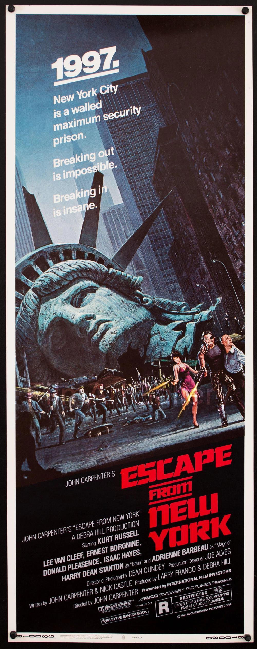 New York Vintage Movie Poster Did John Carpenter Read Valerian In 2020 Movie Posters Vintage Movie Posters Design Movie Posters