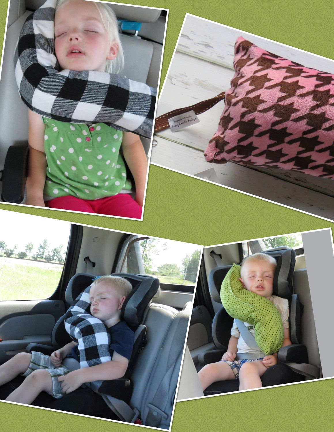 Ergo Baby Bendable Baby Toddler Headrest Carseat Pillow