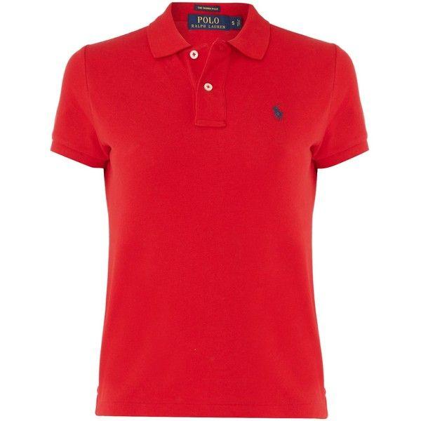 helt elegant bäst älskade tankar på Polo Ralph Lauren Skinny fit short sleeved polo ($105) ❤ liked on ...