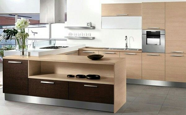 Modern Wood Kitchen - Cucina Moderna in rovere chiaro e wenge ...