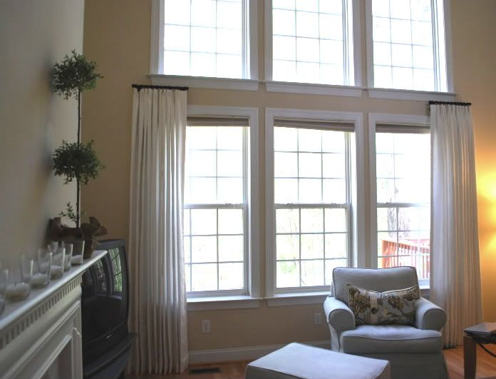 In Stitches How To Cover A Two Story Window Window Treatments