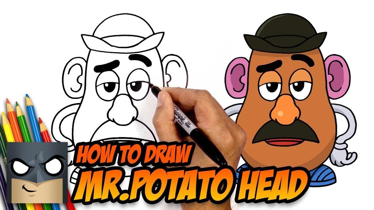 How to Draw Mr.Potato Head   Toy Story   Step-by-Step ...