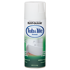 Rust Oleum Tub Tile Aerosol Provides A One Step Solution To Refinish Tubs Sinks And Showers In Just Minutes Thi Tub Tile Tub Refinishing Painting Bathroom