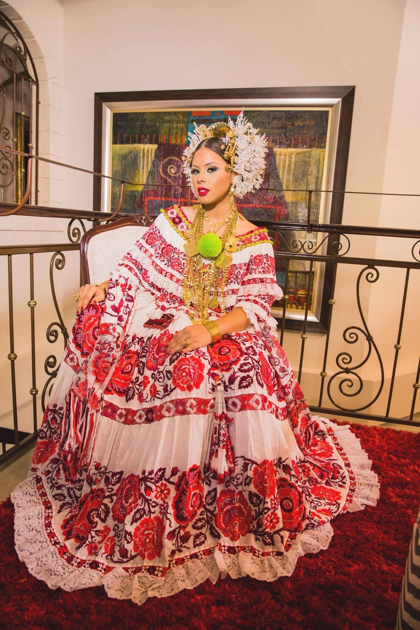 Preciosa Pollera Panama | Panama Culture | Pinterest ...