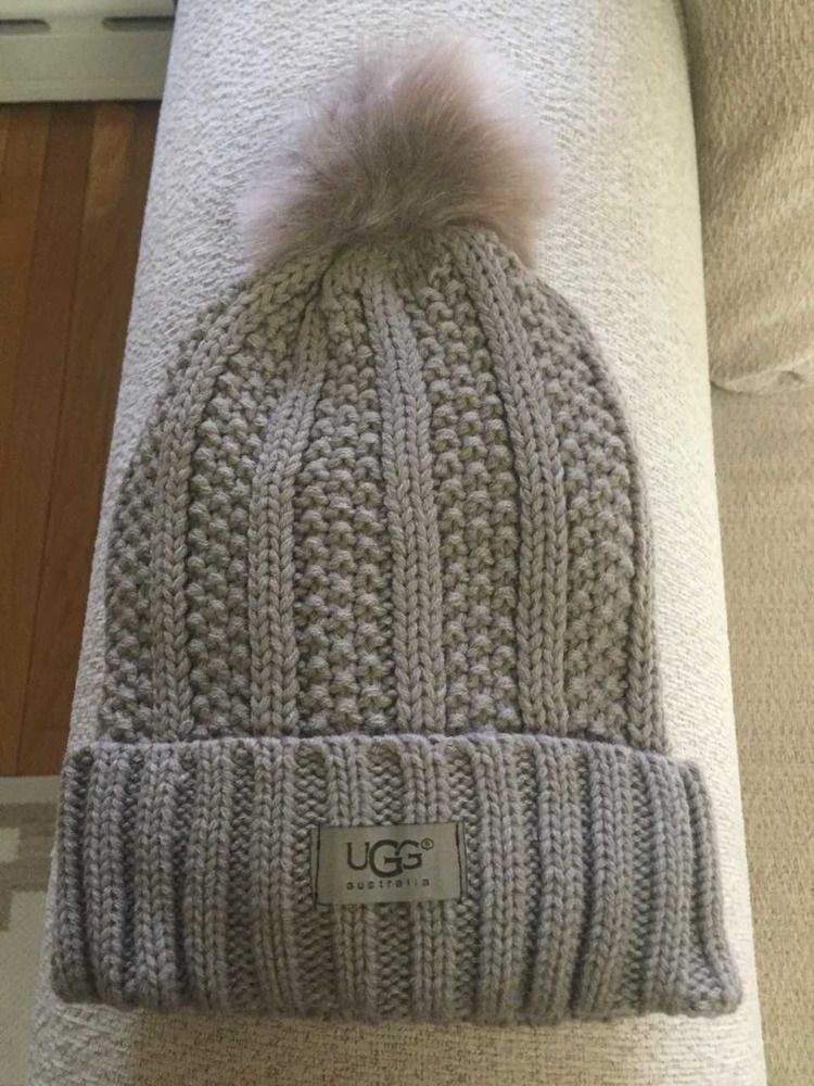 8575289b690 UGG Womens Solid Ribbed Knited Fleece Lined Beanie Hat With Pom Pom  fashion   clothing  shoes  accessories  womensaccessories  hats (ebay link)