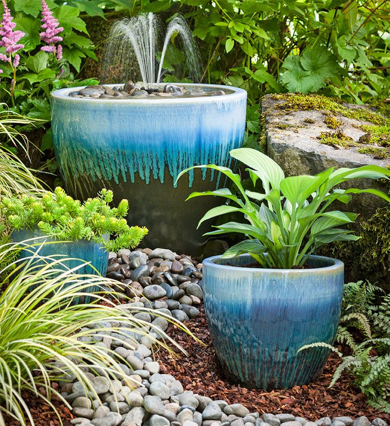 Garden Fountain DIY From Lowes. I Like The Look Of The Stones,the Big