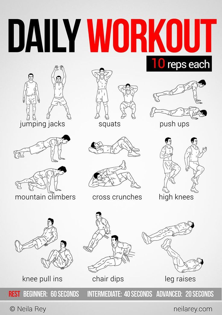 Workout Exercises : 10-Minute Full-Body Workout, 2 sets. Description from