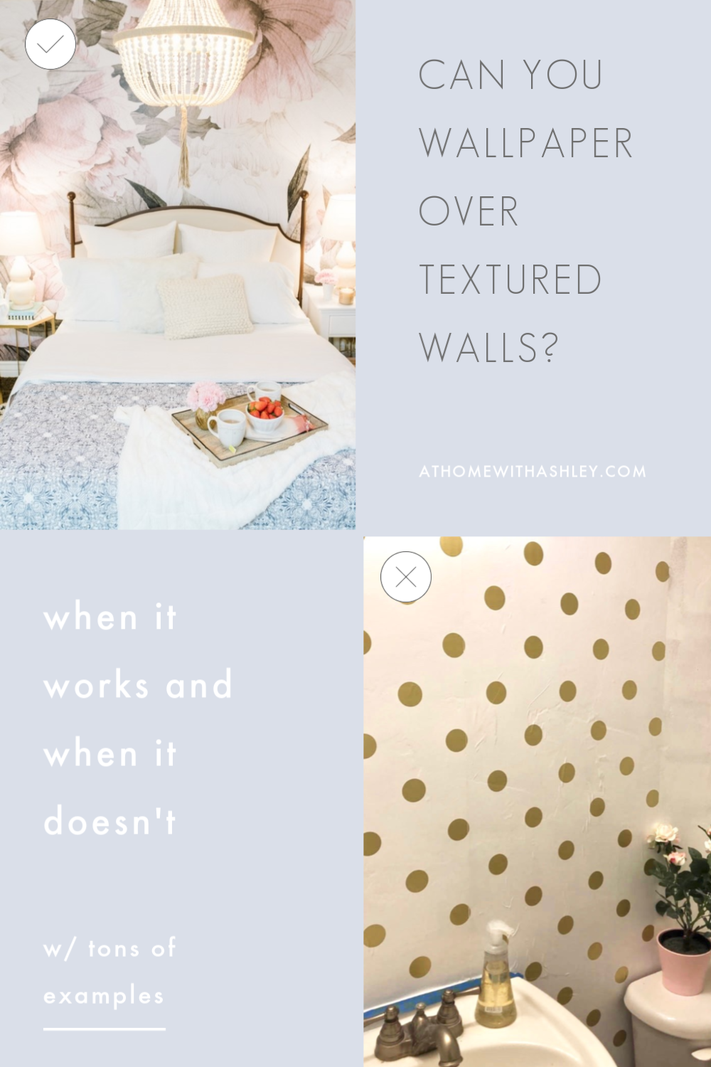 Can You Wallpaper Over Textured Walls If Your Walls Aren T Perfectly Smooth Can You Adhere Peel In 2020 Textured Walls Budget Home Decorating Decorating On A Budget
