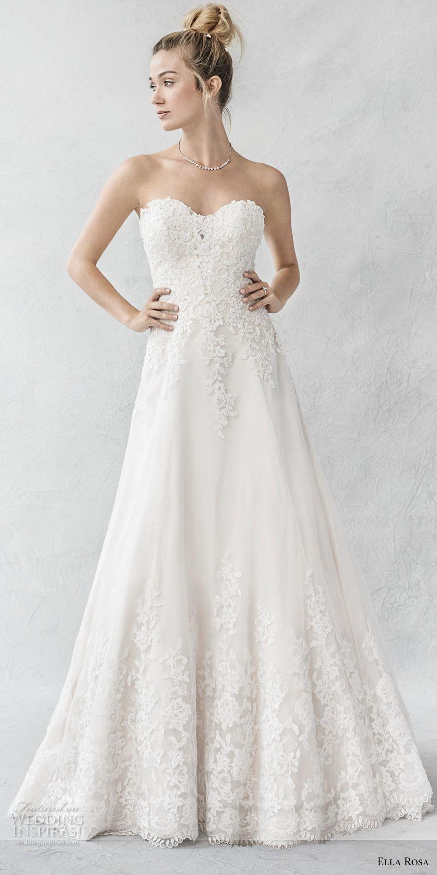 Ella Rosa Spring 2017 Wedding Dresses | Chapel train, Bodice and ...