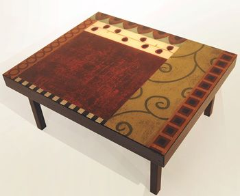 40x40 Heirloom Collection Coffee Table By Bella Bella Paints