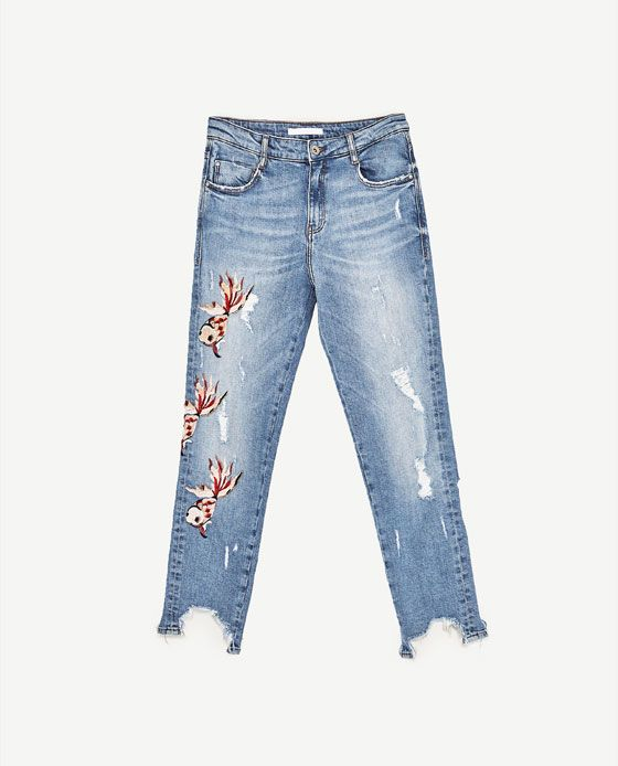 Image 8 Of Mid Rise Slouchy Fit Jeans From Zara Denim