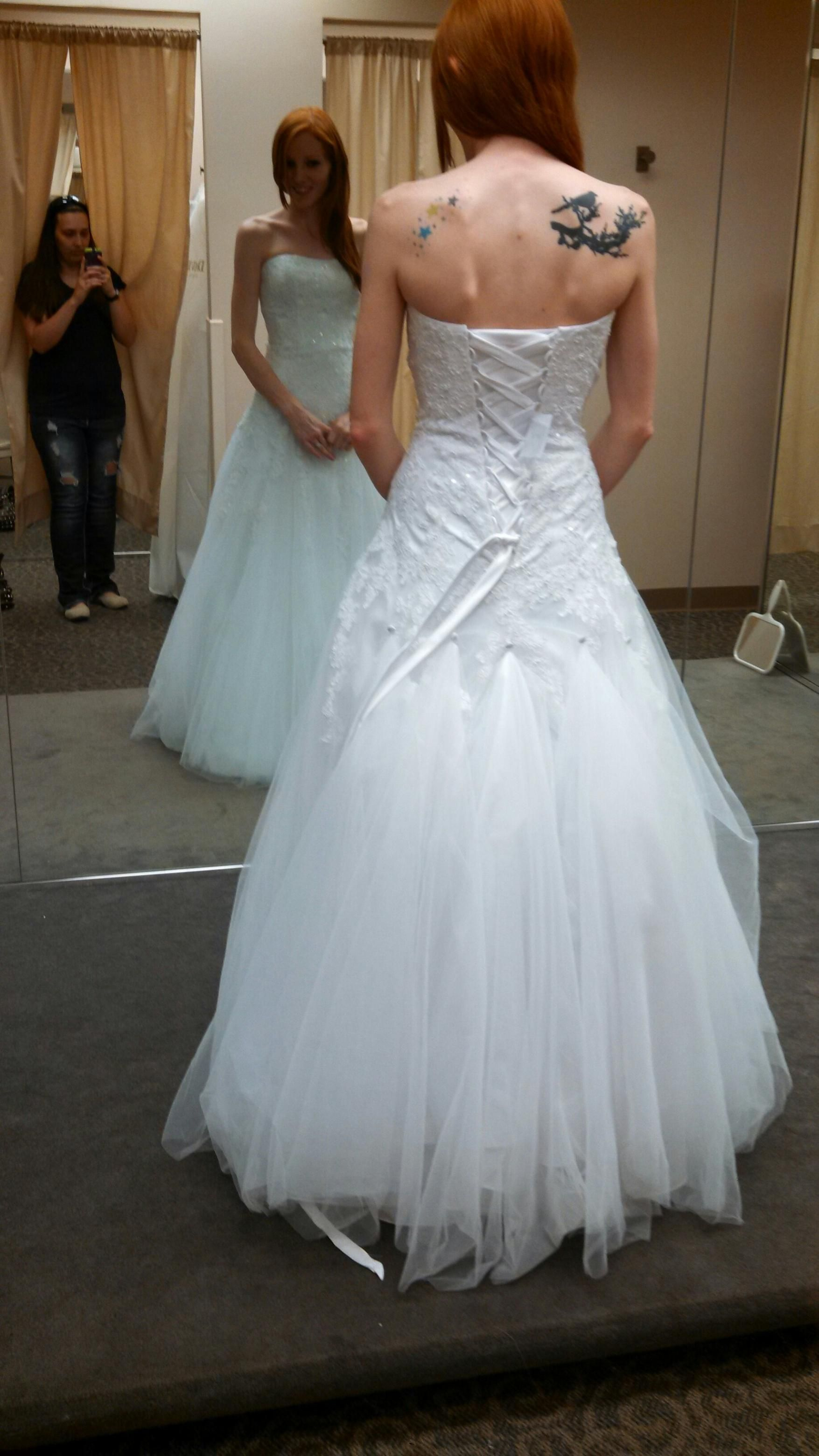 Bustle for tulle wedding dress suggestions? - Weddingbee | Dresses ...