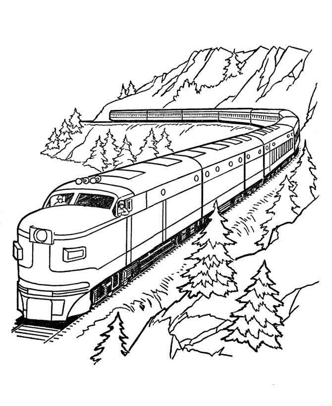 5 Largo Dibujo Tren Tren Para Colorear Paginas Para Colorear