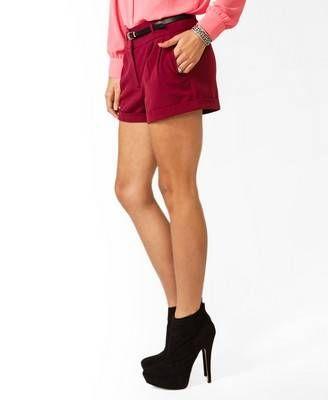 Heather Toner: Pleated Woven Shorts w/ Belt #Lockerz
