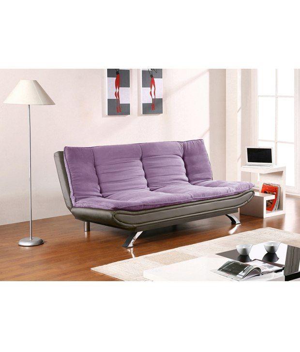 ccae59f63df EDO 3 seater sofa cum bed - Purple   Black