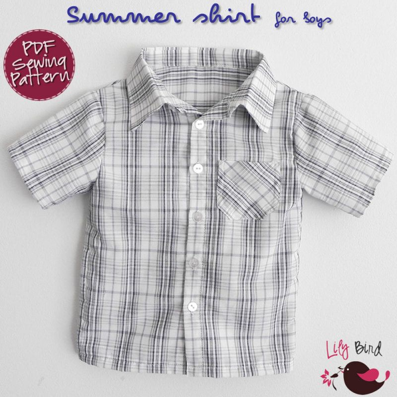 Summer shirt for Boys - 12M to 6T | Making with the little monsters ...
