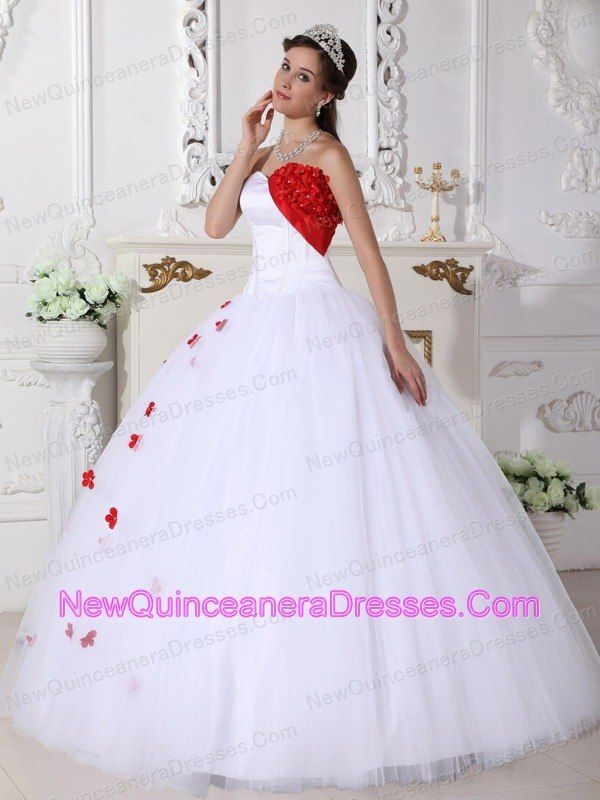 Beautiful-White-and-Red-Quinceanera-Dress-Sweetheart-Satin-and-Tulle ...