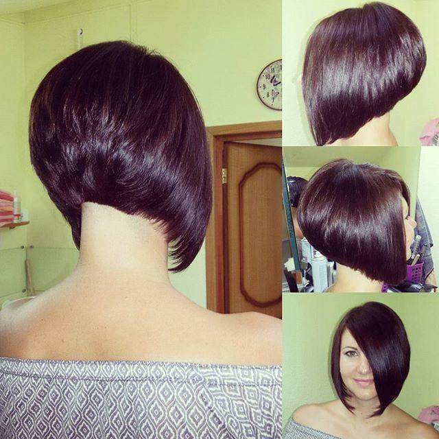 Corte de cabello concavo para nina