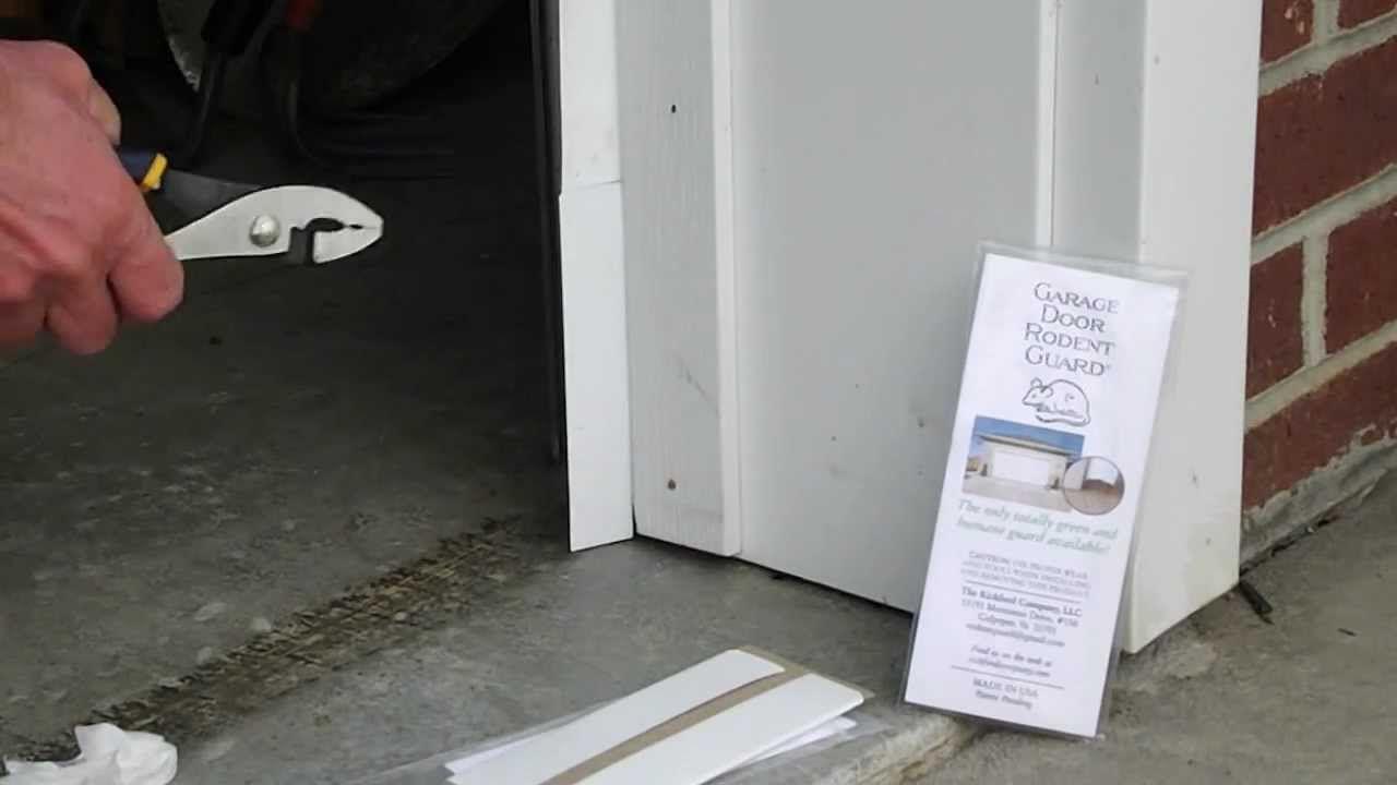 How To Seal Rodent Proof Garage Door With The Garage Door Rodent Guard Garage Doors Garage Door Weather Stripping Garage Door Types