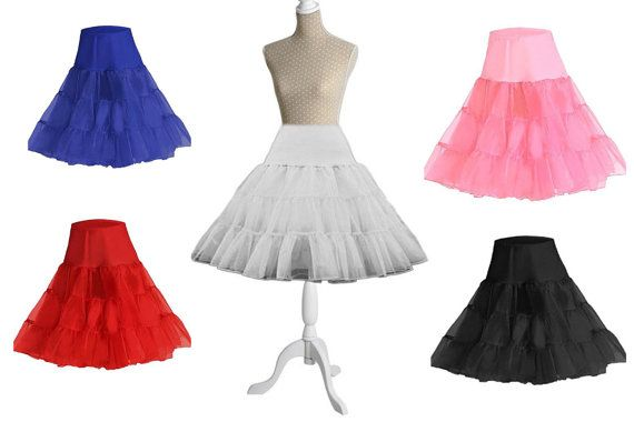 50shouse _ ROCKABILLY 50s medium fuller Style organza layers Petticoat Underskirt fit for 50s tea length dress_ REDAY to ship