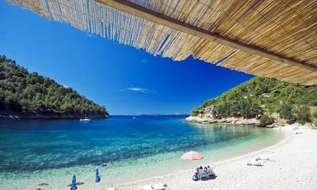 Pupnatska beach on Korcula island, Croatia