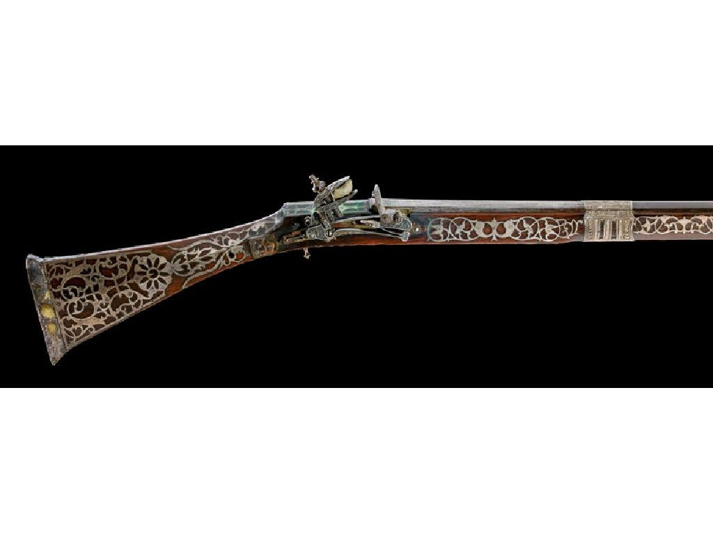 A 12 Bore North African Miquelet Lock Musket Dated 1242ah 1826 7 Arms And Armour Antiques Musketeers