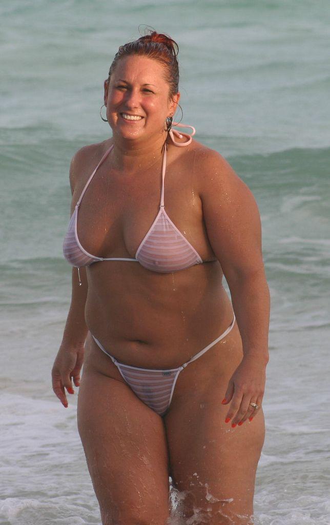 Chubby nude beach bikini