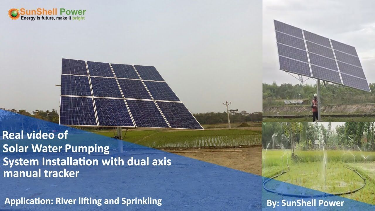 Solar Water Pump Installation Solar Solar Technology Solar Power Panels