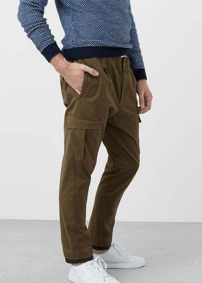 Cotton cargo trousers - Men | Outlets, Cotton and Products