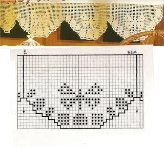 Miria Croches E Pinturas Barrado De Croche Com Borboletas N 6