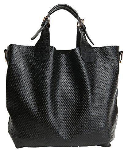 Heshe Women s New Fashion Genuine Leather Tote Handbag Shoulder Bag Cross  Body Bag Handbag Top Handle Handbag Pouch Purse Hobo Sling Hang Bag for  Ladies e1cbd1f0a9