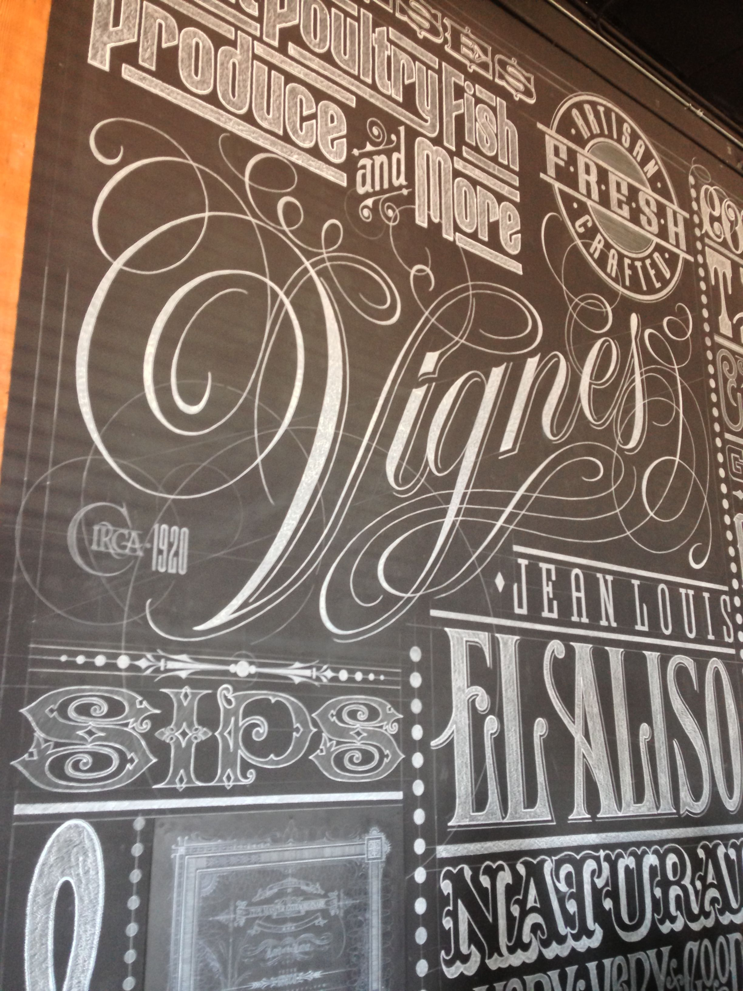 Hand drawn chalk typography at Eat Drink Americano Bar & Restaurant ...