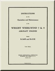 Wright R E RE Aircraft Engine Operation And Maintenance