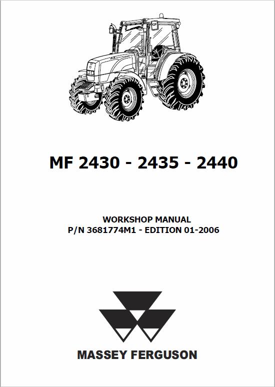 Massey Ferguson 2430 2435 2440 Tractor Service Manual Massey Ferguson Manual Tractors