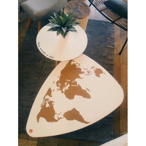 Plateau goutte d\u0027eau en hêtre massif DIY Autour du meuble Pinterest