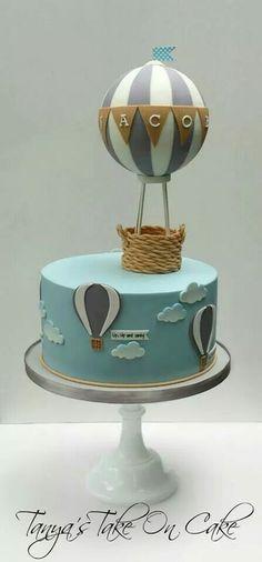 Bolo Em Forma De Balao De Ar Quente Pesquisa Google Bolos De Bebe Menina Baby Shower Cakes Shower Cake