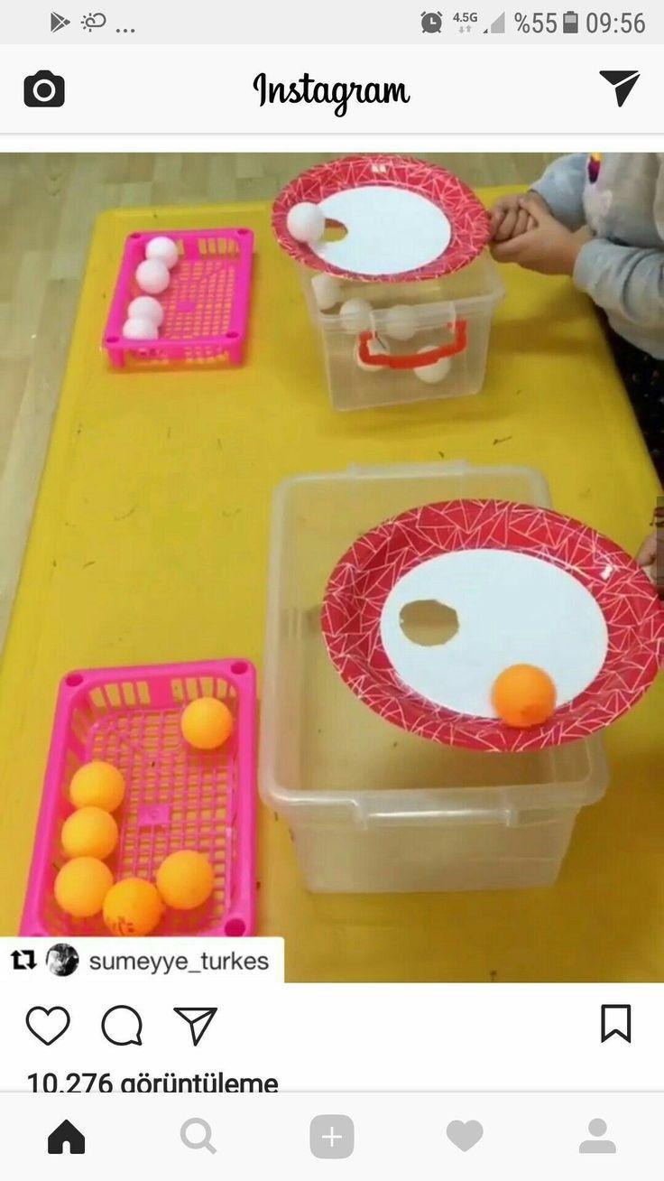 Photo of Rullende mål med ping pong baller og papirplater – travle bag ideer – bilde Hafen