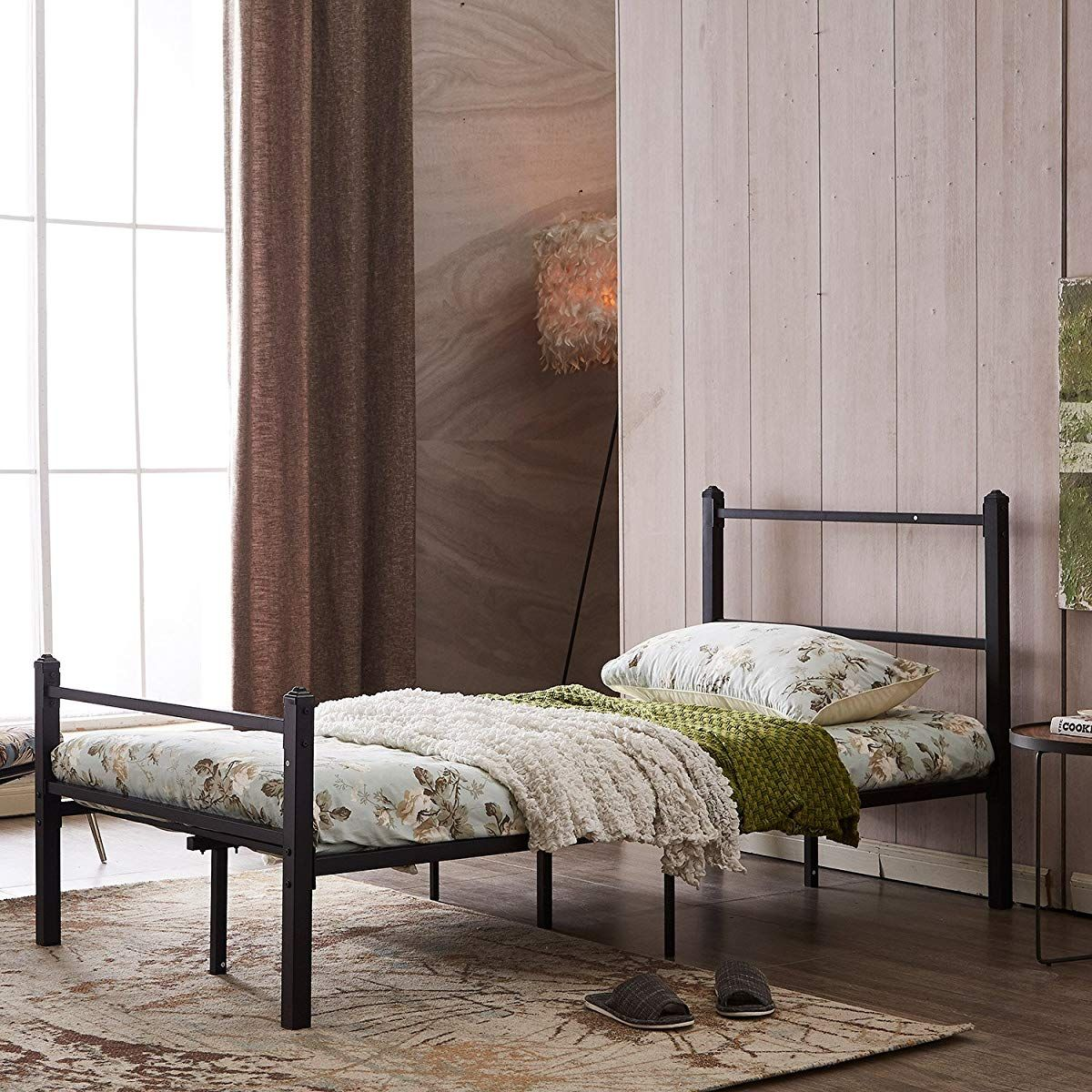 GreenForest Heavy Duty Bed Frame Twin Size Nonslip Metal